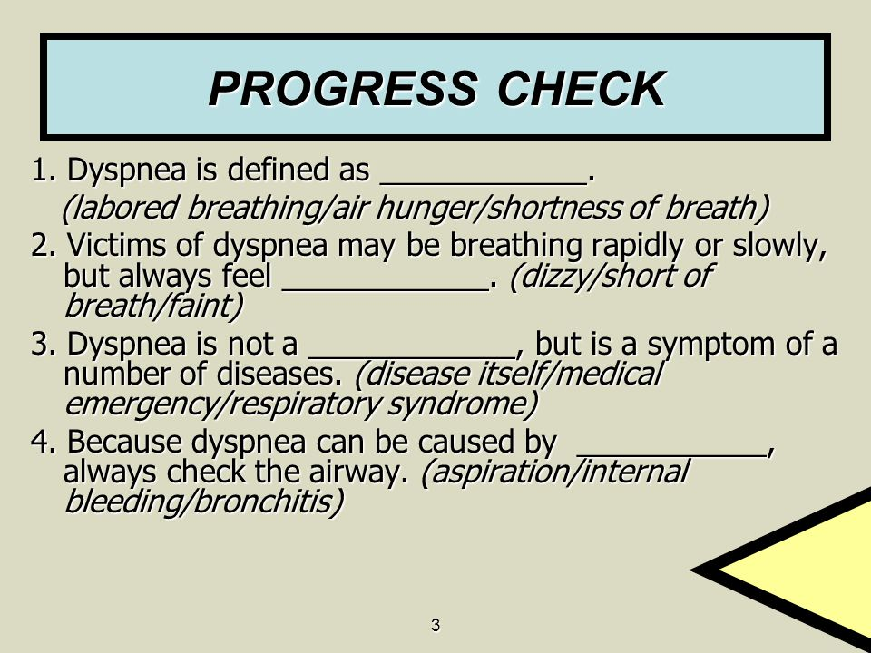PROGRESS CHECK 1. Dyspnea is defined as ____________.