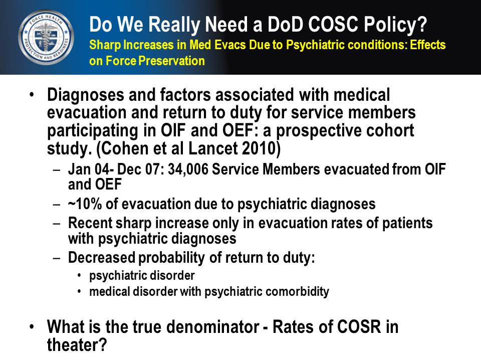 Do We Really Need a DoD COSC Policy