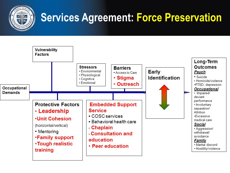 Services Agreement: Force Preservation Early Identification Stigma