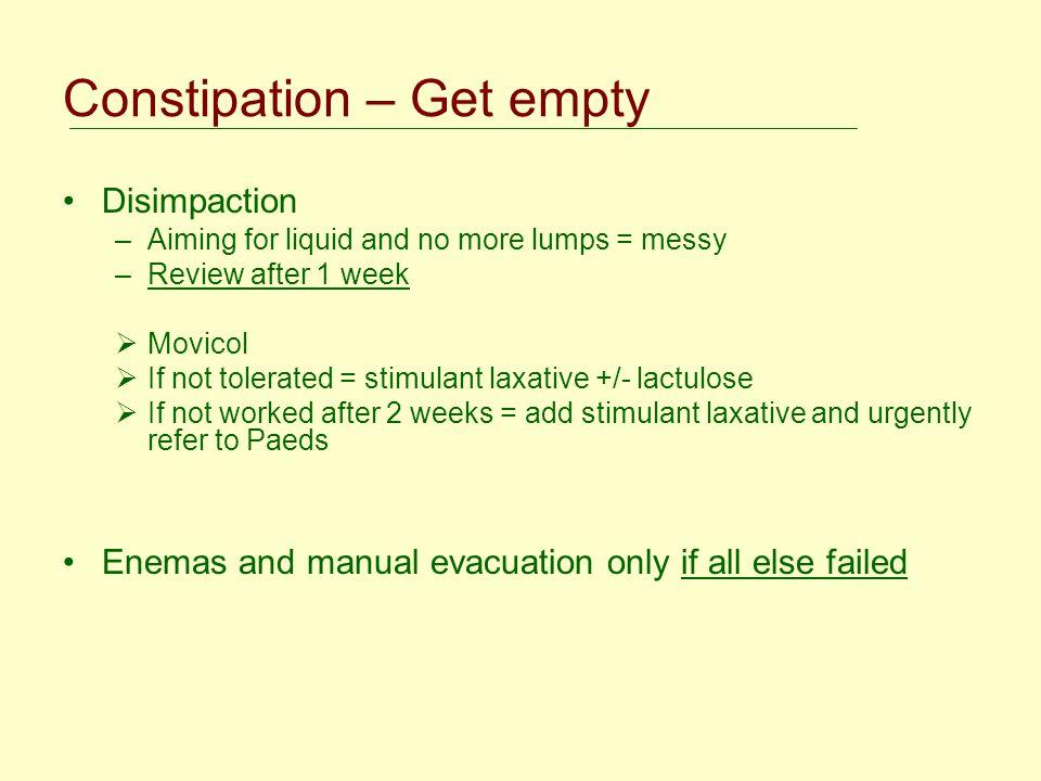 Constipation – Get empty