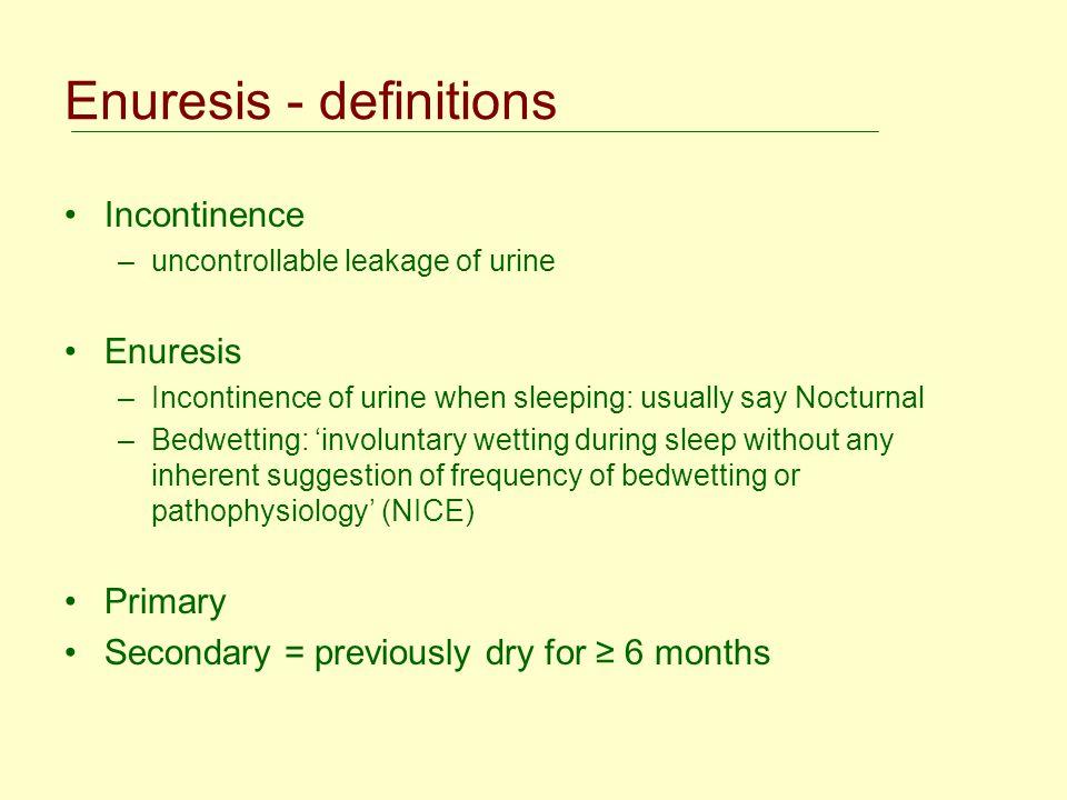 Enuresis - definitions