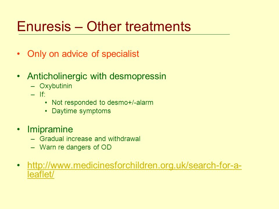 Enuresis – Other treatments