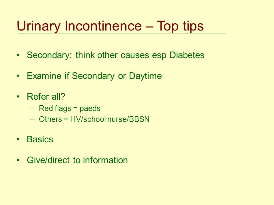 Urinary Incontinence – Top tips