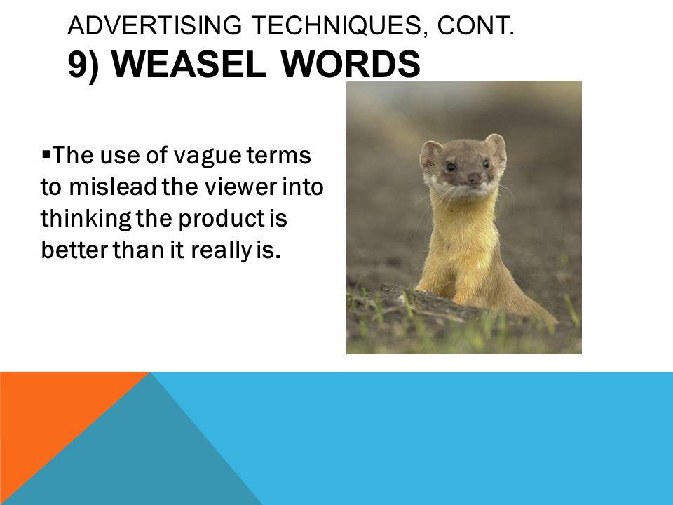 weasel words definition
