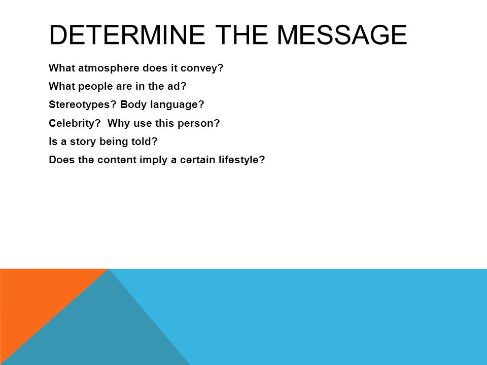Determine the message