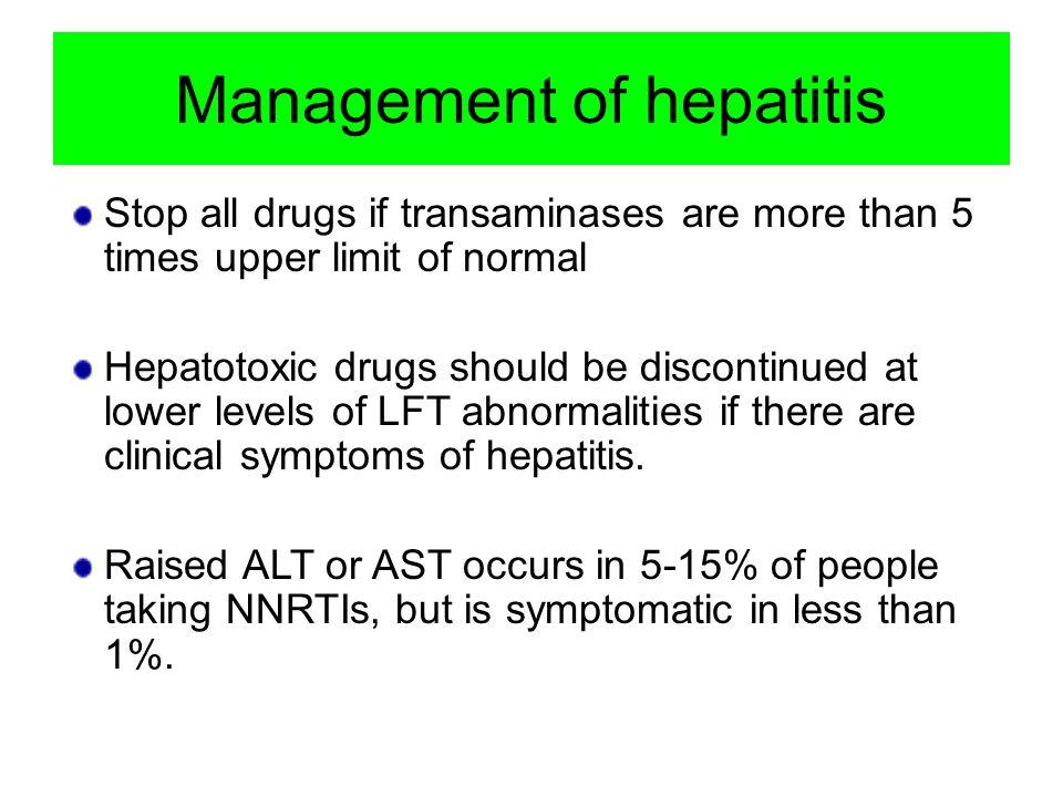 Management of hepatitis