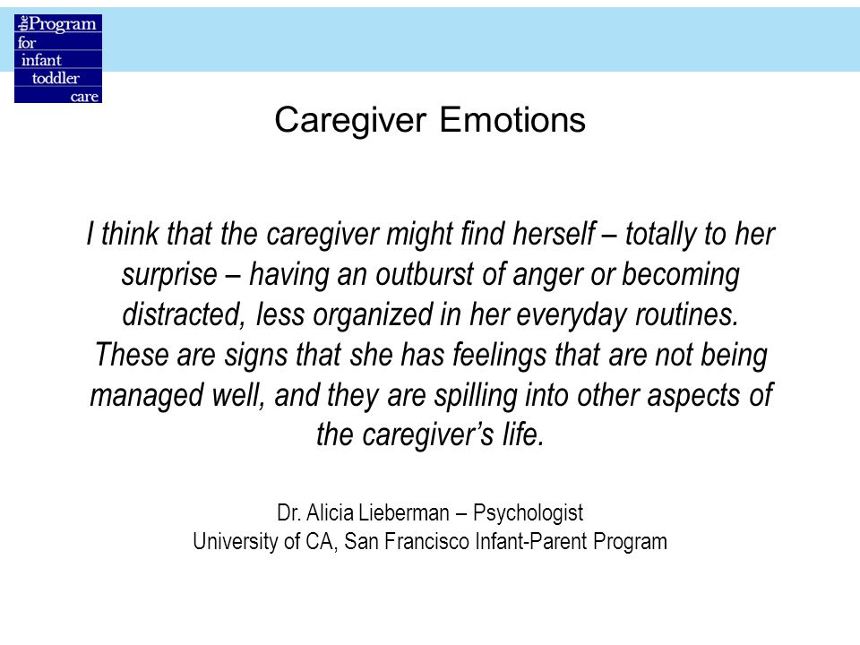 Caregiver Emotions