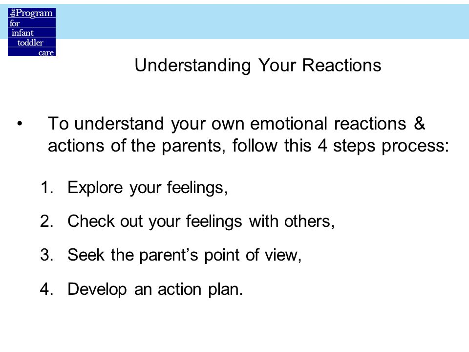 Understanding Your Reactions