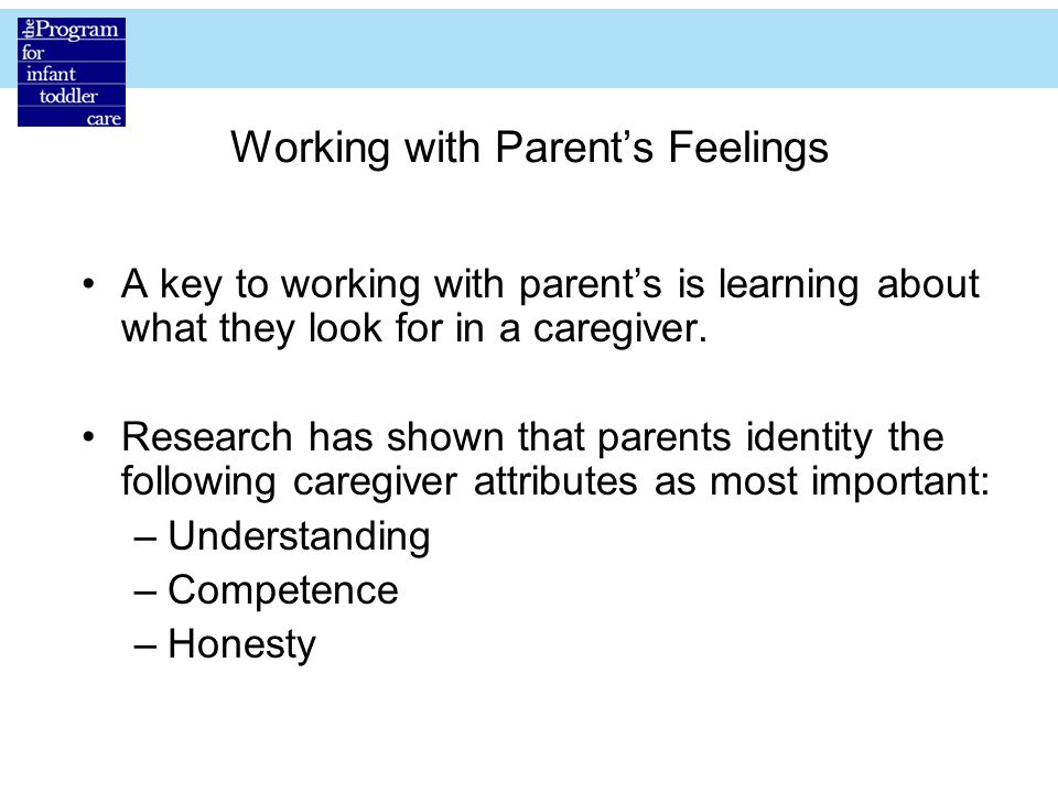 Working with Parent's Feelings