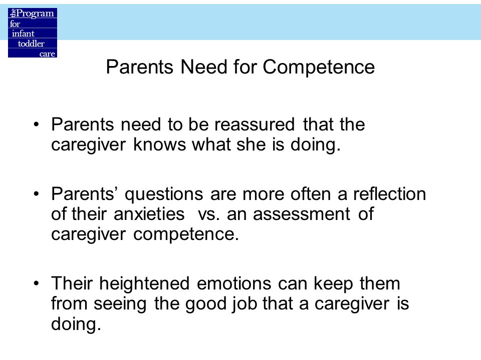 Parents Need for Competence