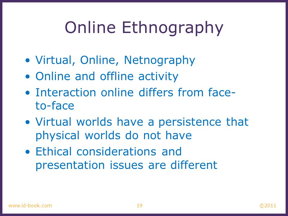 Online Ethnography Virtual, Online, Netnography