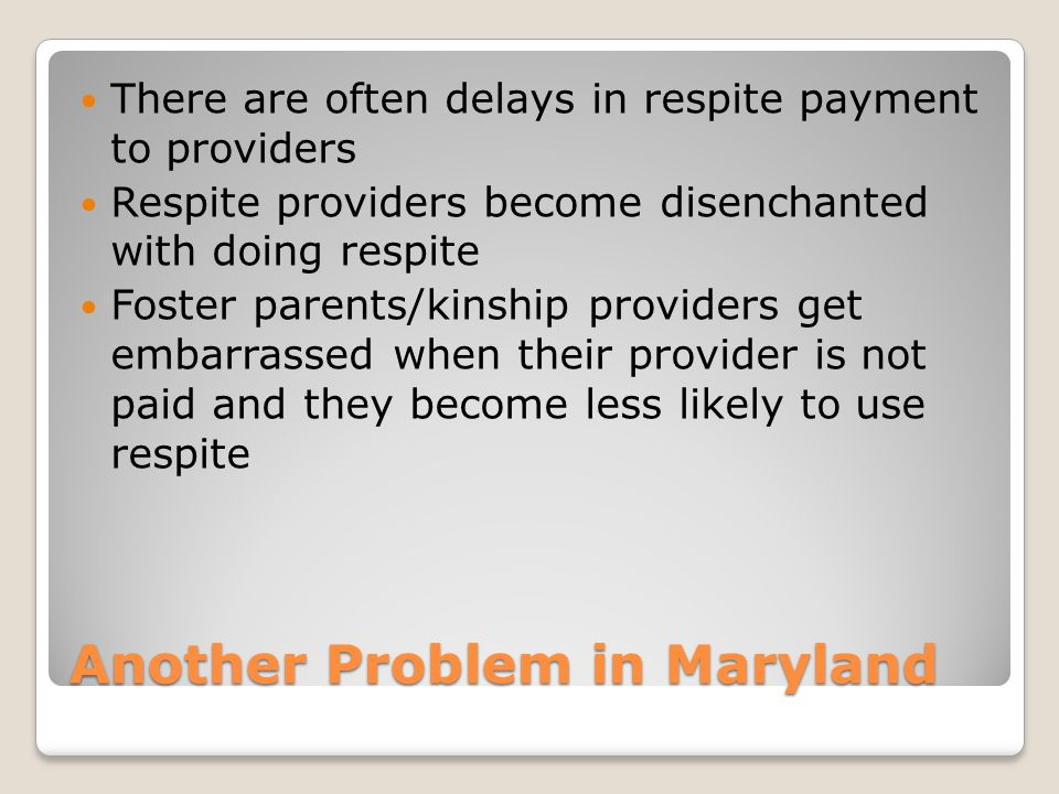 Another Problem in Maryland