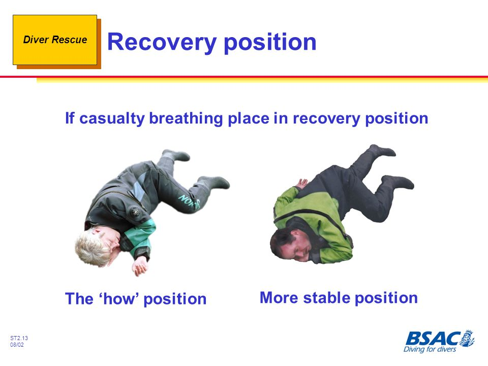 If casualty breathing place in recovery position