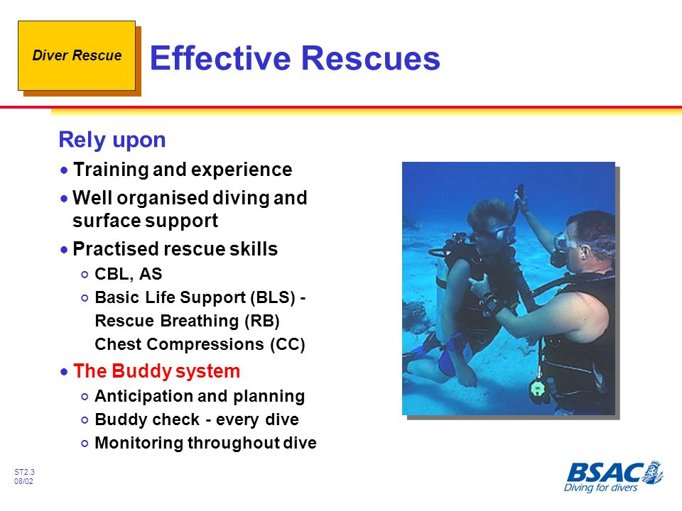 Effective Rescues Rely upon Training and experience