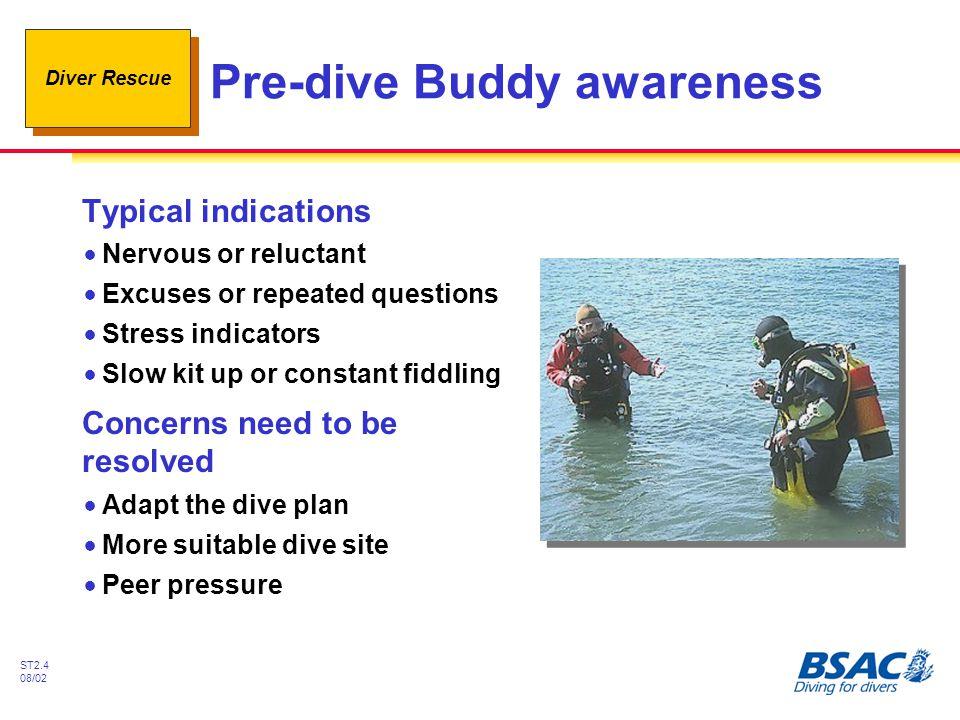 Pre-dive Buddy awareness
