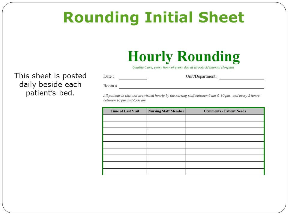 Rounding Initial Sheet