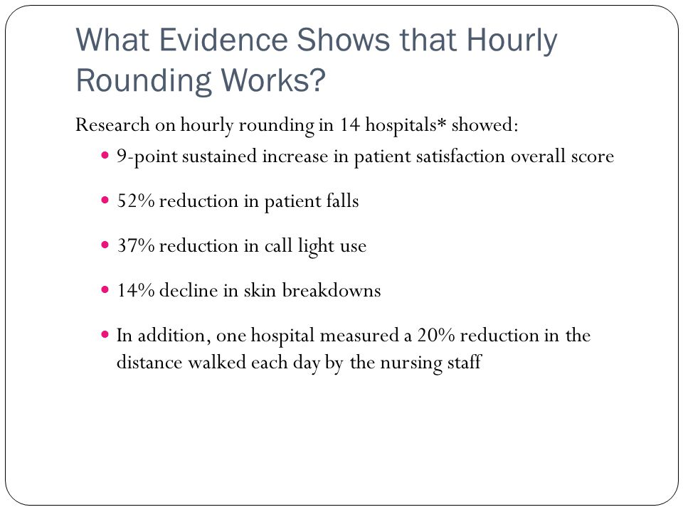 What Evidence Shows that Hourly Rounding Works