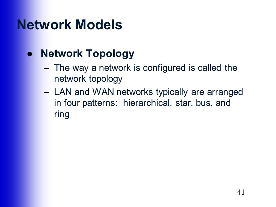 Network Models Network Topology