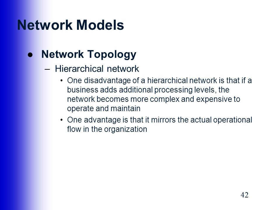 Network Models Network Topology Hierarchical network