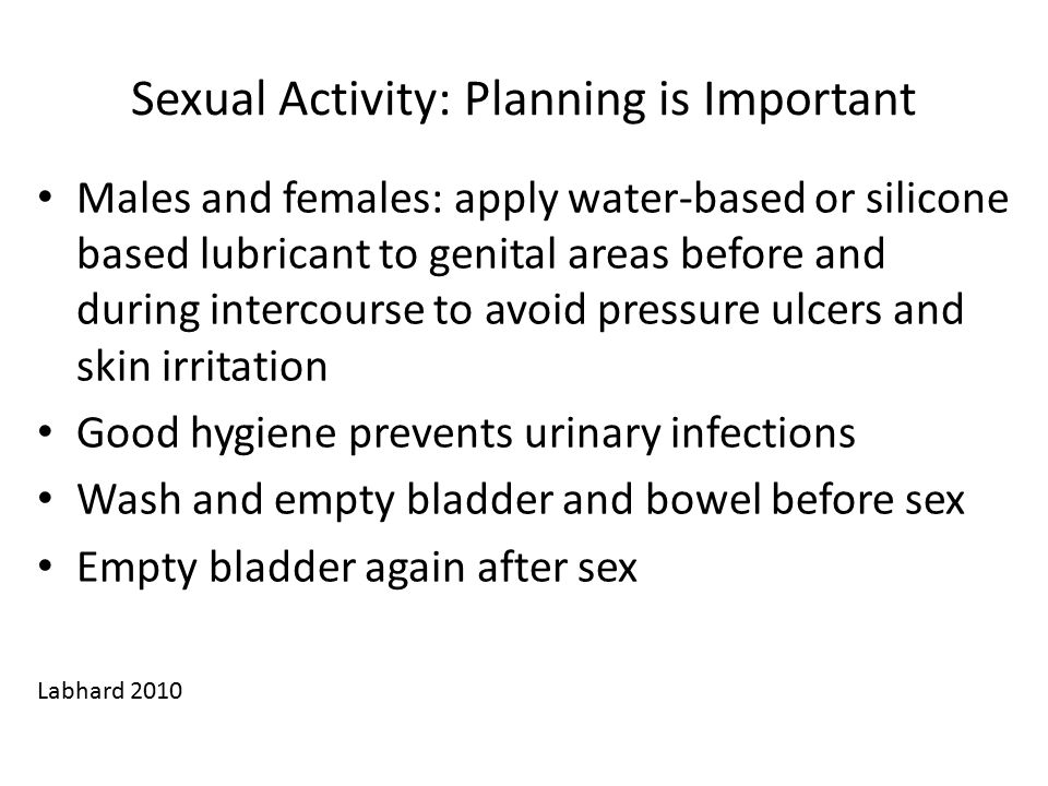 Sexual Activity: Planning is Important