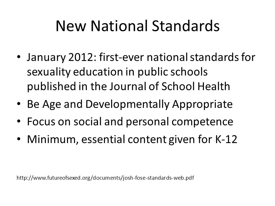New National Standards