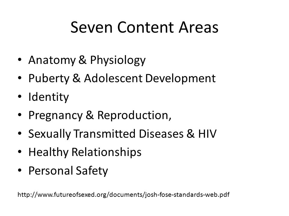 Seven Content Areas Anatomy & Physiology