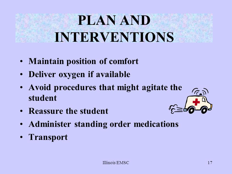 PLAN AND INTERVENTIONS