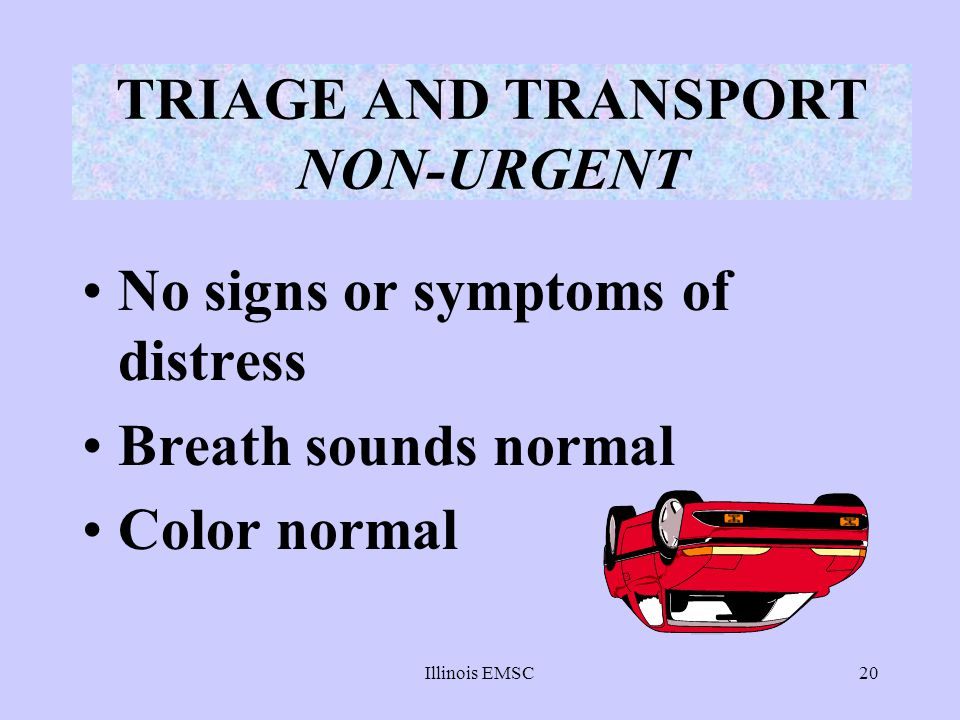 TRIAGE AND TRANSPORT NON-URGENT