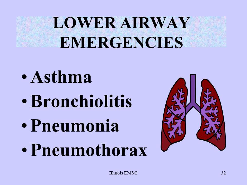 LOWER AIRWAY EMERGENCIES