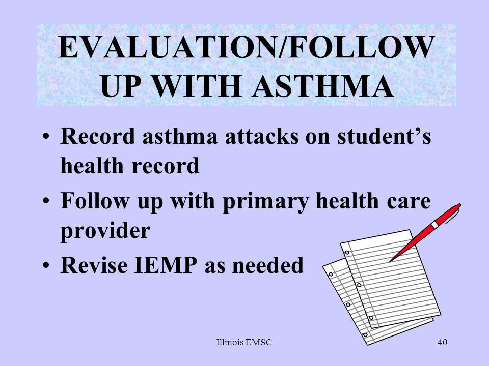 EVALUATION/FOLLOW UP WITH ASTHMA