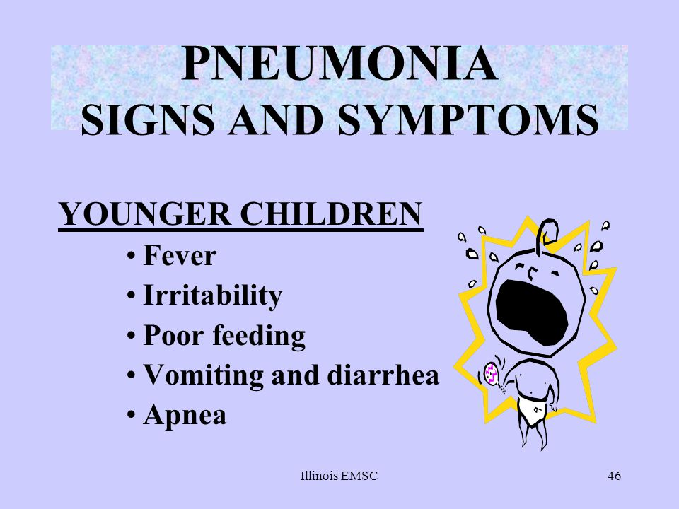 PNEUMONIA SIGNS AND SYMPTOMS