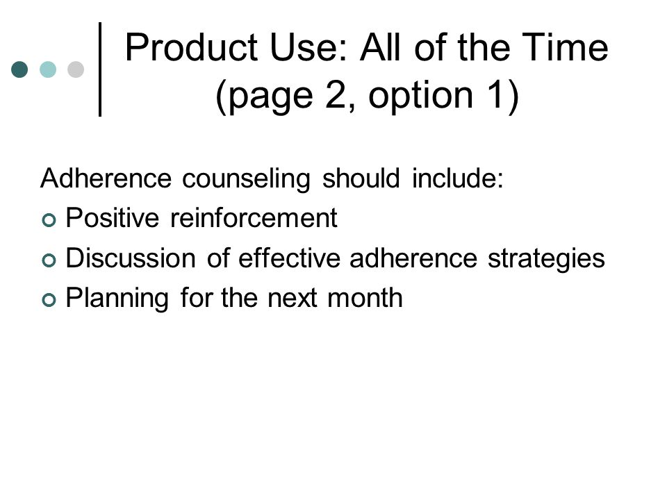 Product Use: All of the Time (page 2, option 1)
