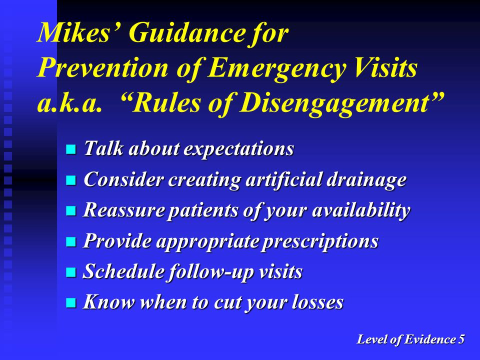 Mikes' Guidance for Prevention of Emergency Visits a. k. a