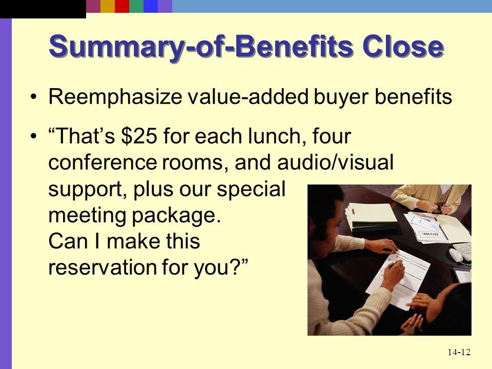 Summary-of-Benefits Close