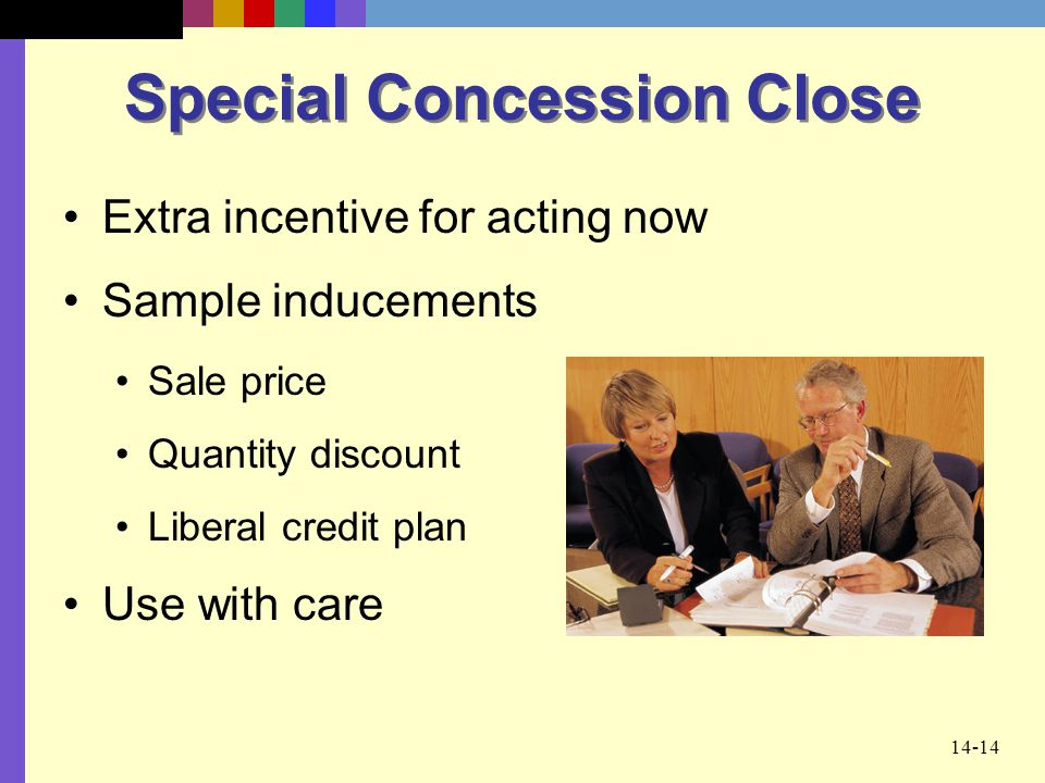 Special Concession Close