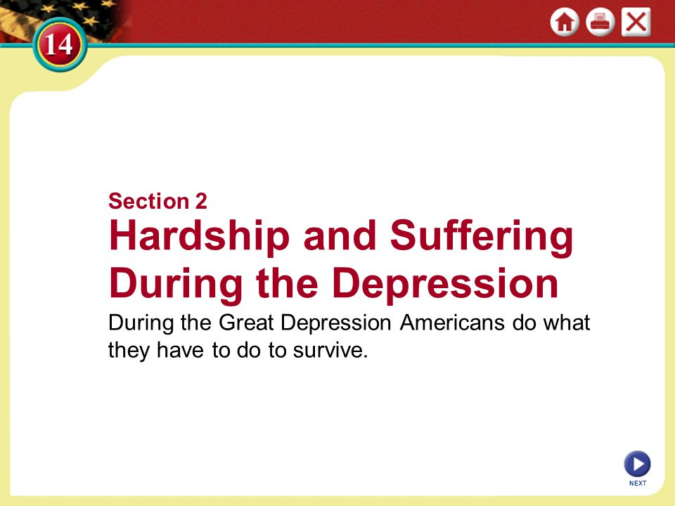 Hardship and Suffering During the Depression