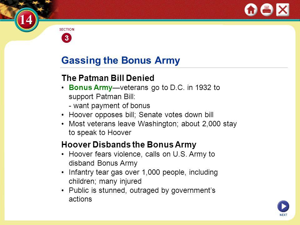Gassing the Bonus Army The Patman Bill Denied