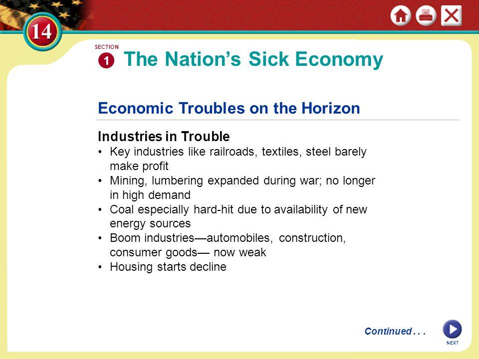 The Nation's Sick Economy