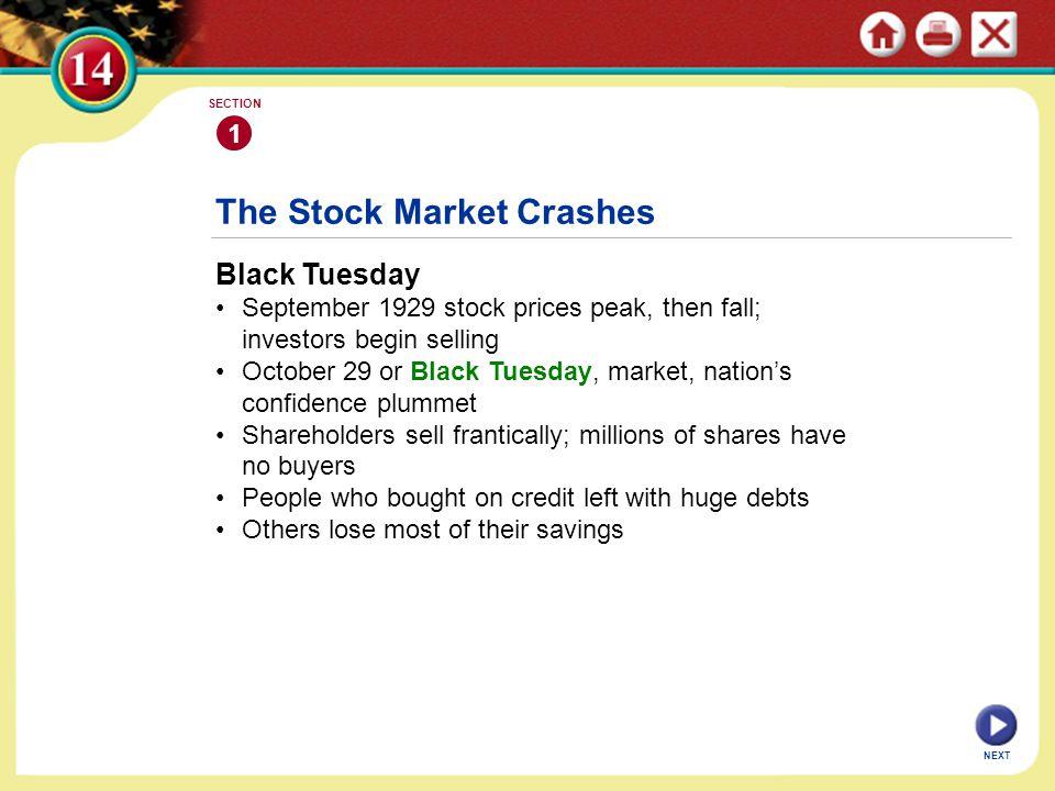 The Stock Market Crashes