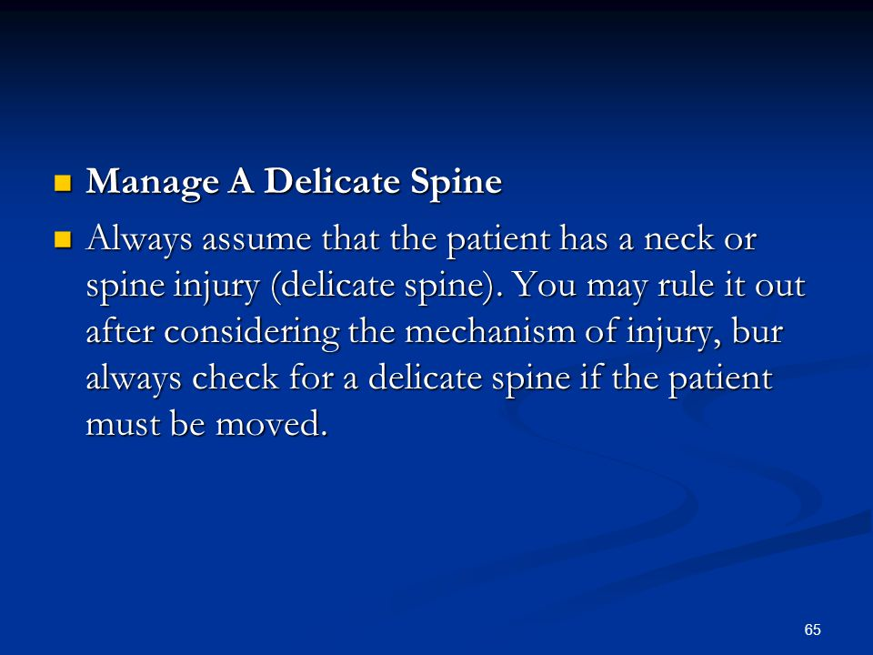 Manage A Delicate Spine