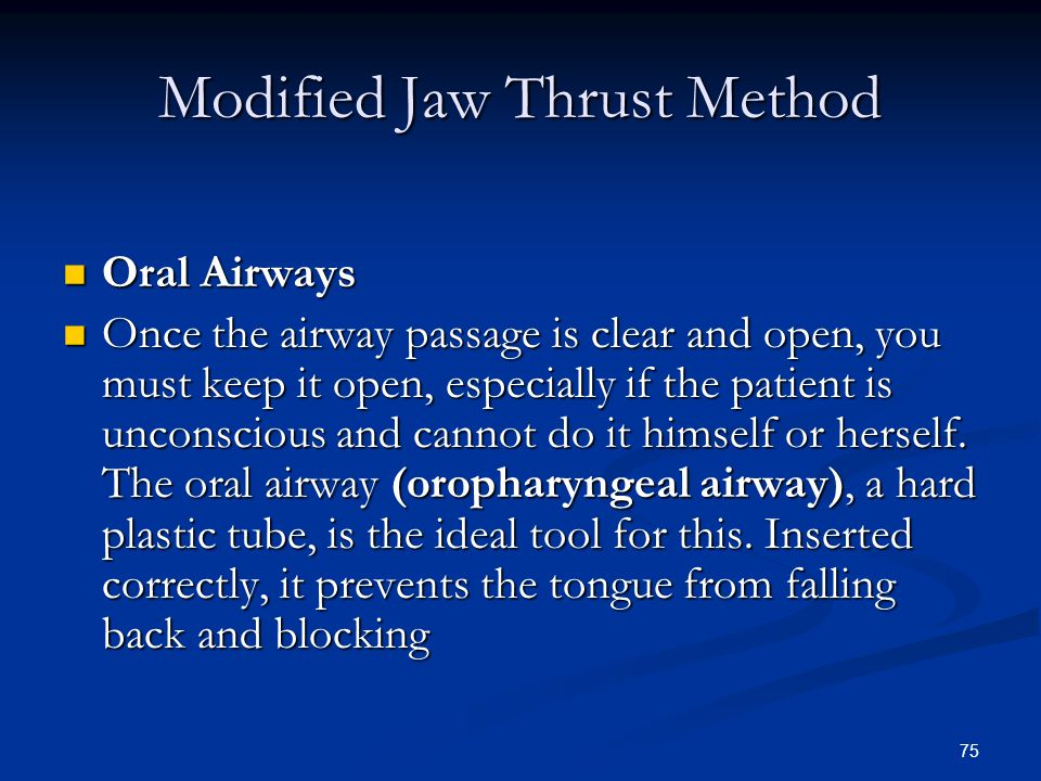 Modified Jaw Thrust Method