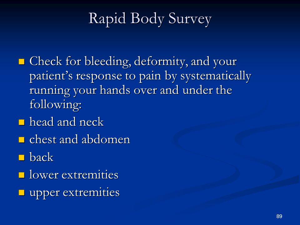 Rapid Body Survey