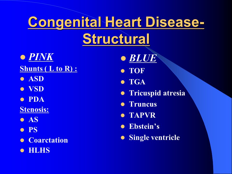 Congenital Heart Disease- Structural