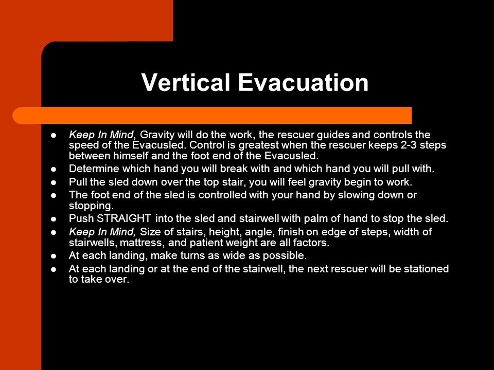 Evacusled Used Only In An Emergency To Evacuate Non