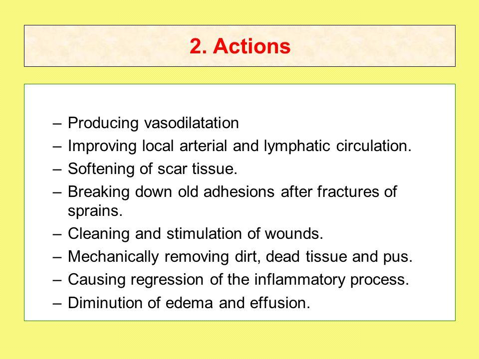 2. Actions Producing vasodilatation