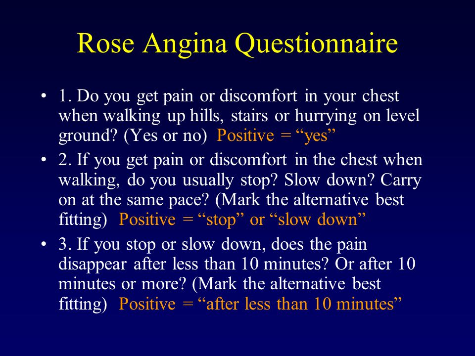 Rose Angina Questionnaire