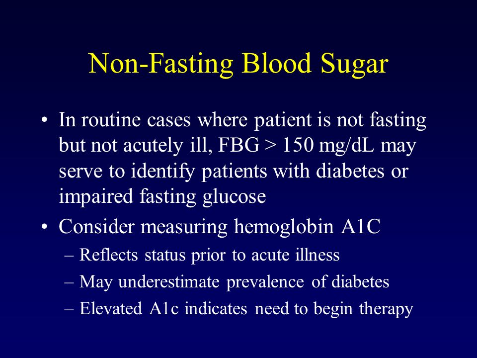 Non-Fasting Blood Sugar