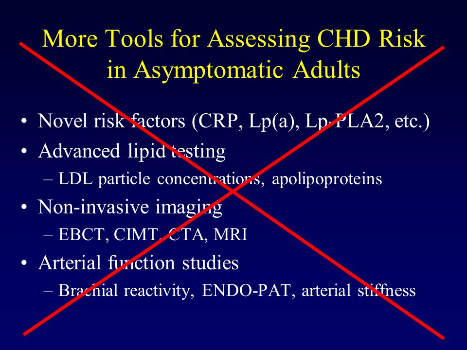 More Tools for Assessing CHD Risk in Asymptomatic Adults