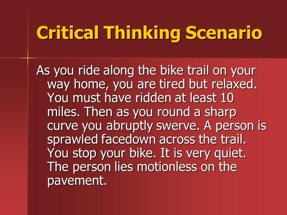Critical Thinking Scenario