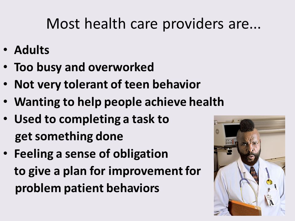 Most health care providers are...